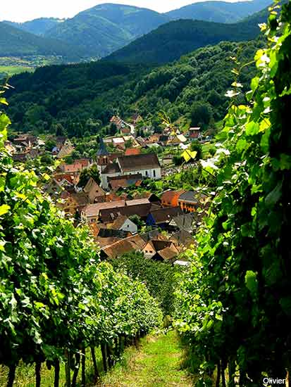 albe small village in the alsace region in france