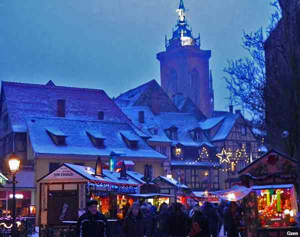 Christmas market in Alsace France
