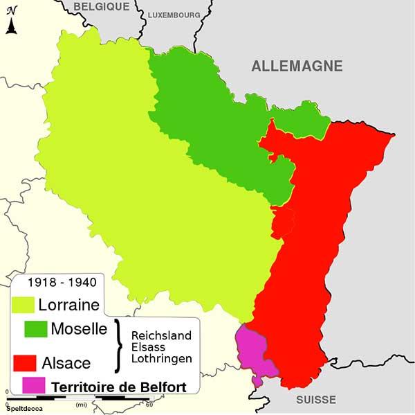 Alsace Lorraine map