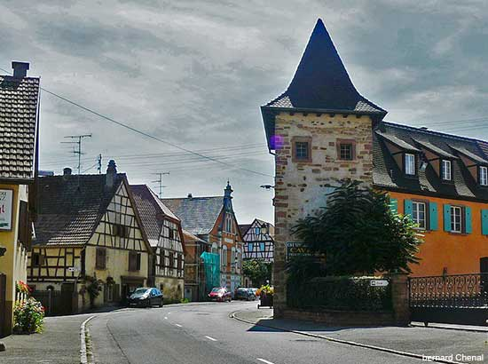Beblenheim an Alsace village in France