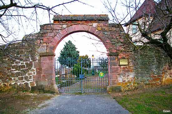 Mittelwihr and Bennwihr two Alsace villages in France