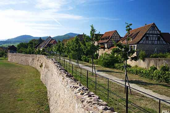 Bergheim a small village in the Alsace region of France