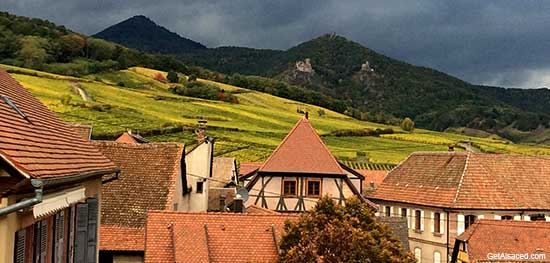 Hunawihr a small village in the Alsace region of France