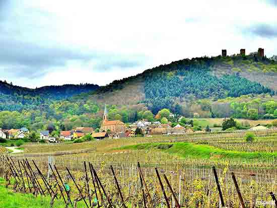 Husseren les Chateaux a small village in the Alsace region of France