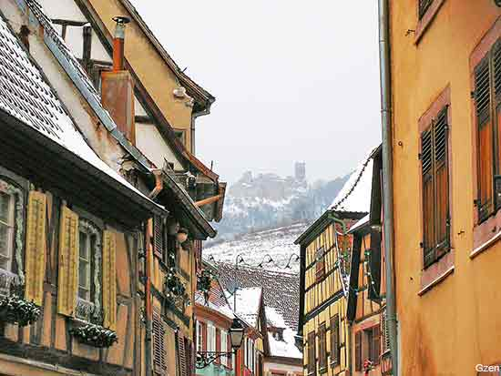 Ribeauville an alsace village in france