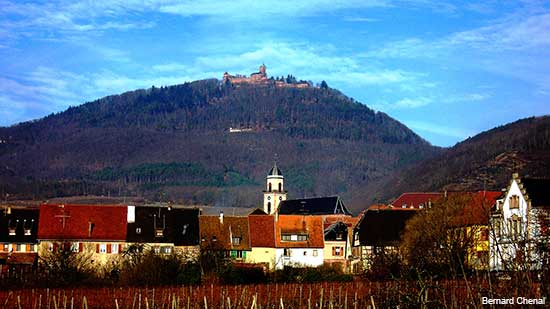 Saint Hippolyte a small alsace village in france