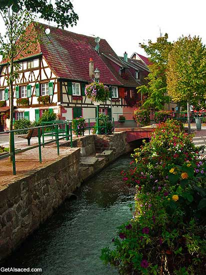 Scherwiller an Alsace village in France
