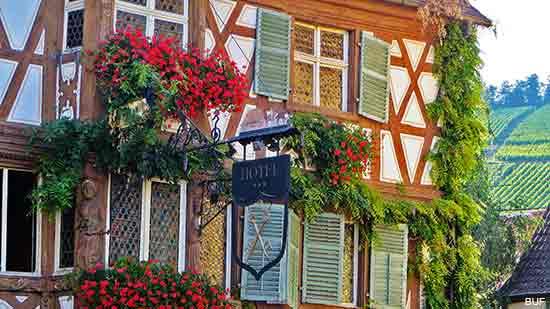 Turckheim an Alsace village in France