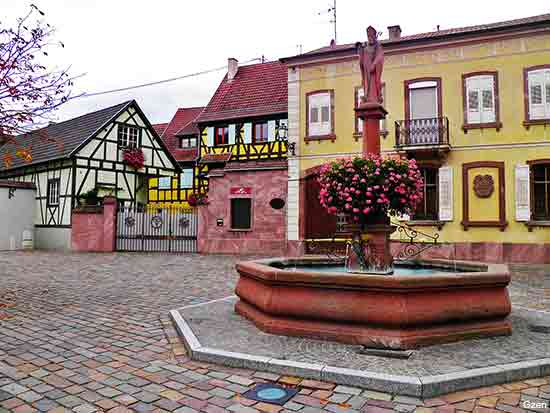 Wettolsheim a small village in the Alsace region in France