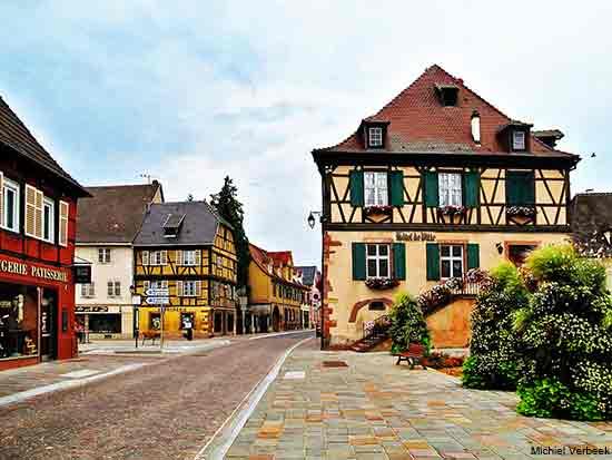 Wintzenheim an Alsace village in France