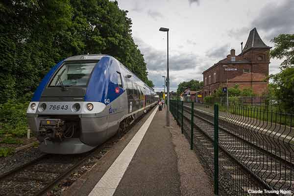 Alsace village train station in France