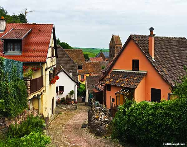 Small Alsace village in France