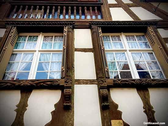 Alsace village windows in France