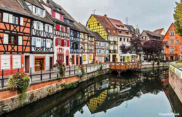 Colmar a city in Alsace France