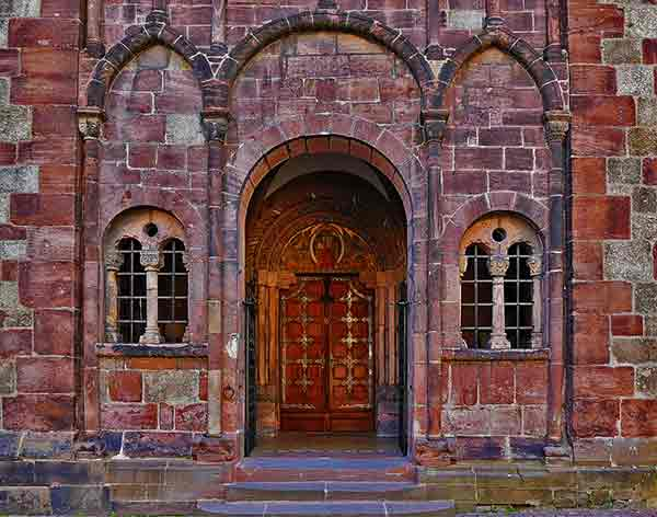 Historic building in Alsace France