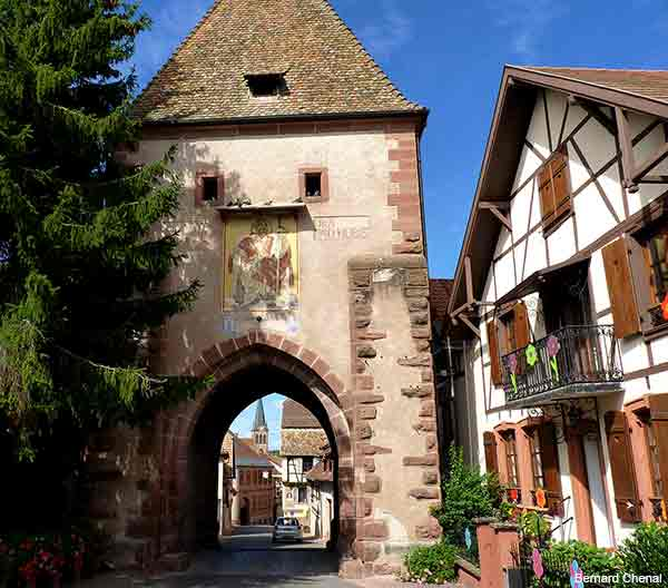 Alsace village on the wine road