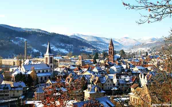 Munster an Alsace village in France