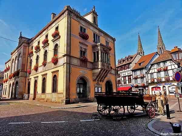 Obernai an Alsace town in France