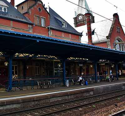 Colmar train station in Alsace France