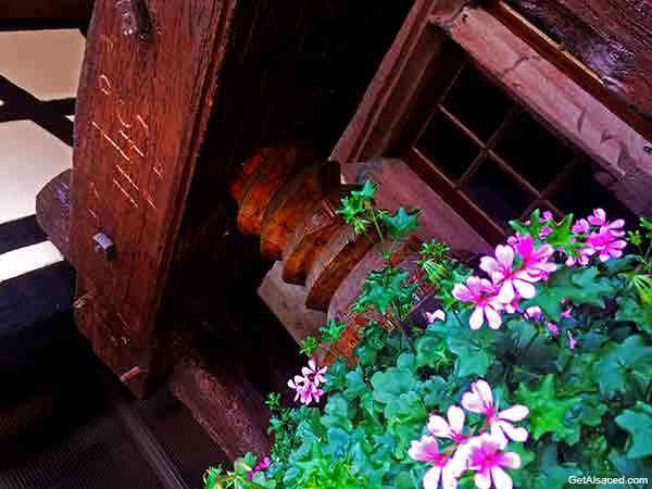 An old wine press in Alsace France
