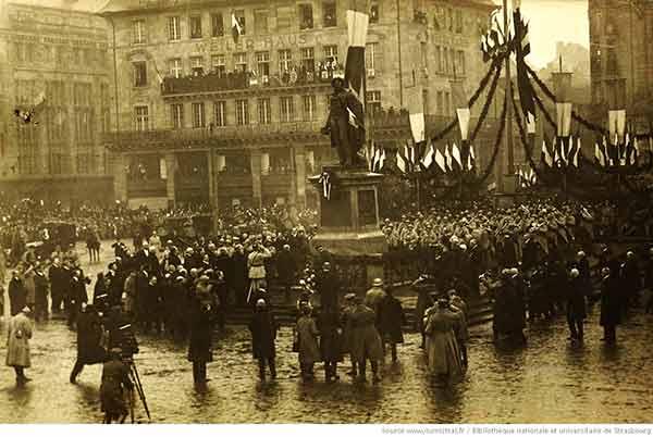 World War One celebration in Strasbourg in Alsace France